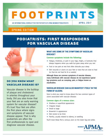 Podiatrists: First Responders for Vascular Disease